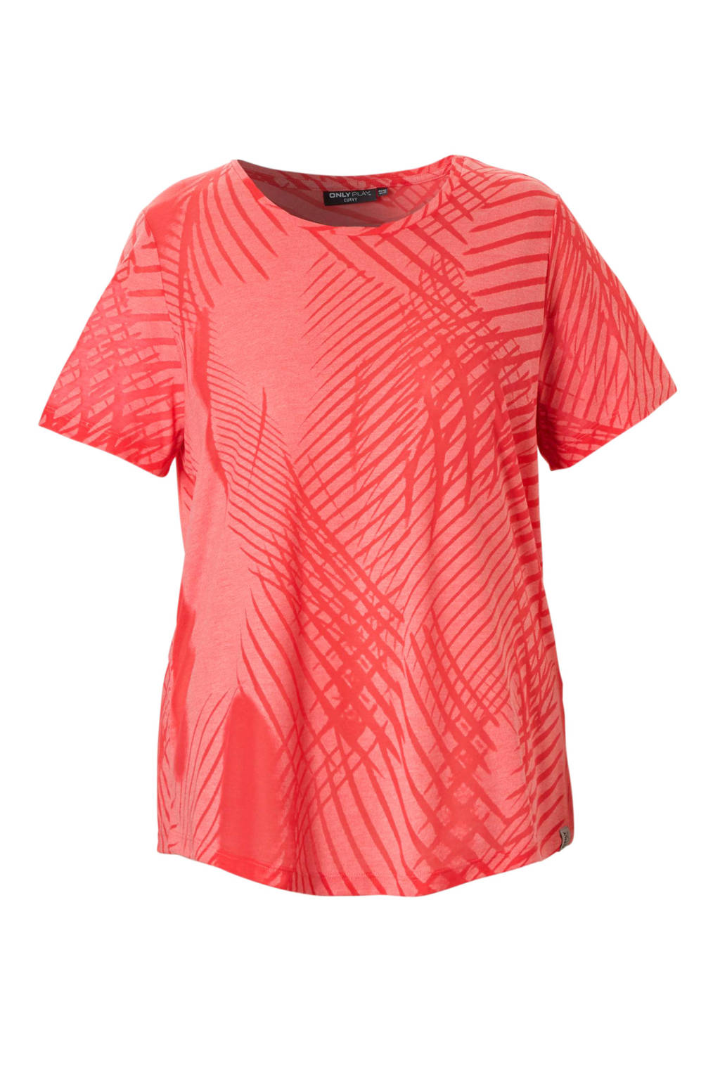 Only Play Curvy sport T-shirt roze, Roze