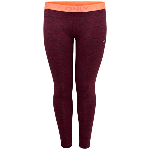 Only Play Curvy sportbroek aubergine