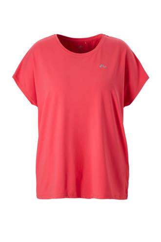 Curvy sport T-shirt roze
