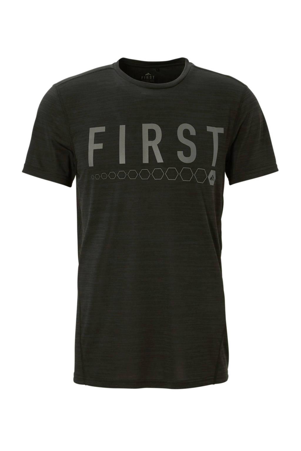 First   sport T-shirt zwart, Zwart