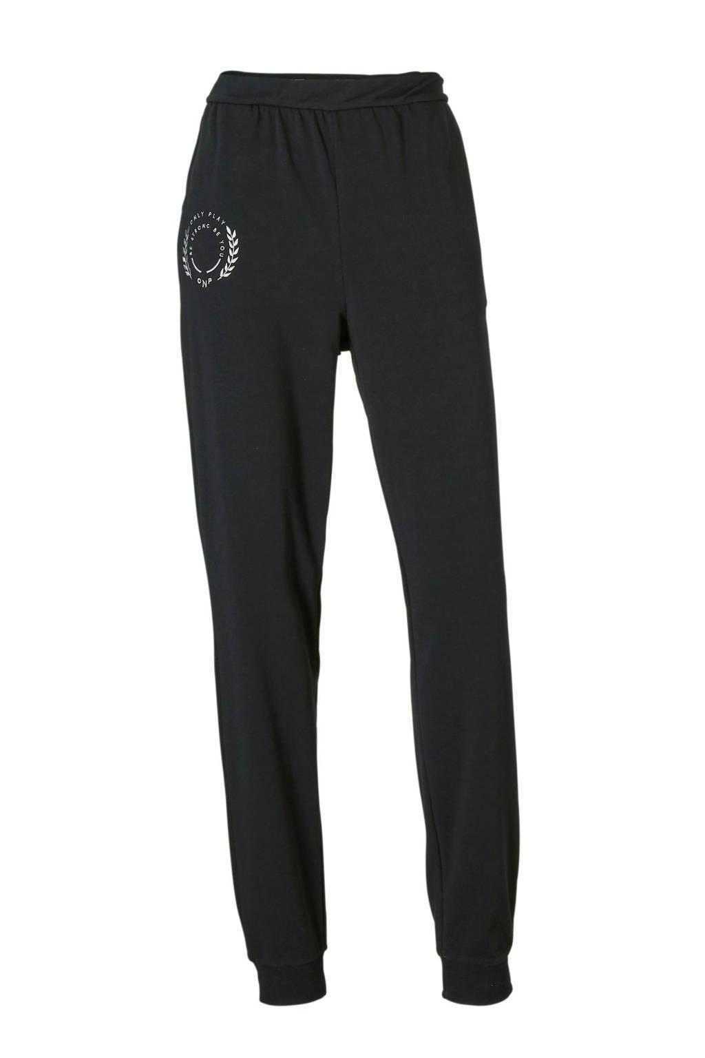 Only Play joggingbroek zwart, Zwart