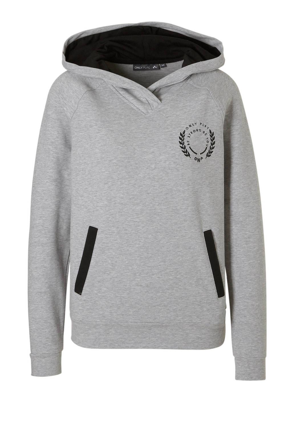 Only Play sportsweater grijs, Grijs/zwart