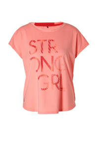 Only Play / Only Play sport T-shirt neon oranje