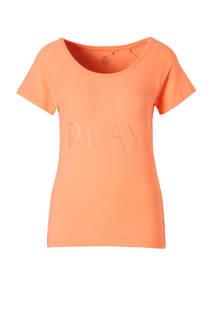 Only Play sport T-shirt neon oranje (dames)