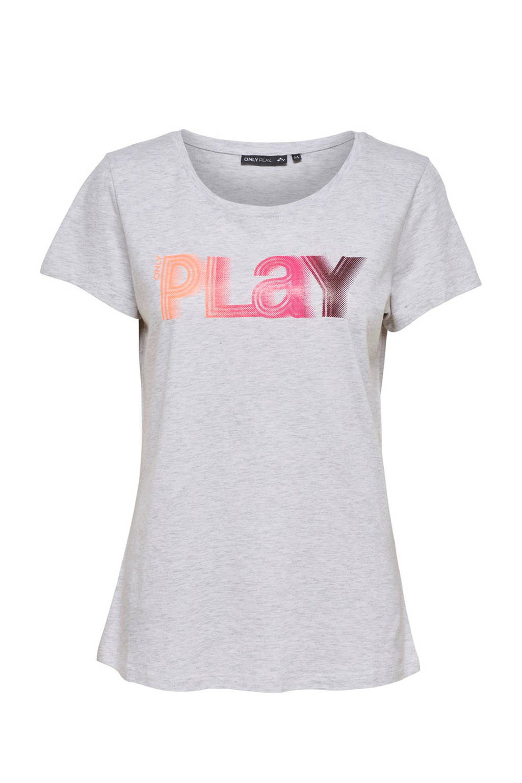 Only Play sport T-shirt, Wit melange