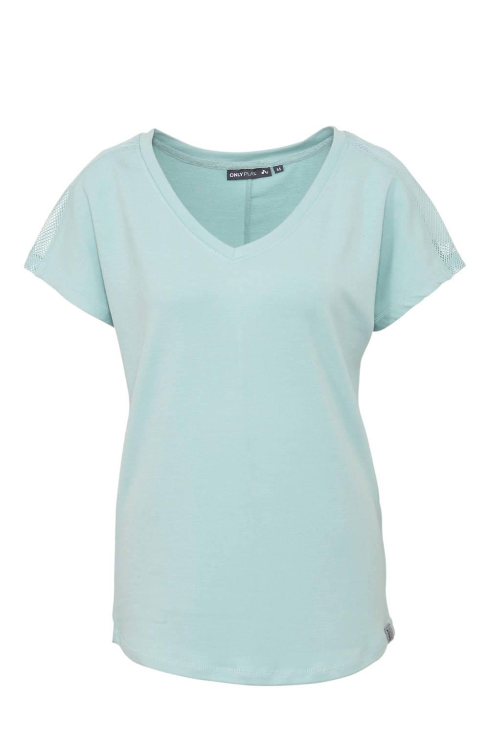Only Play sport T-shirt lichtblauw, Oranje