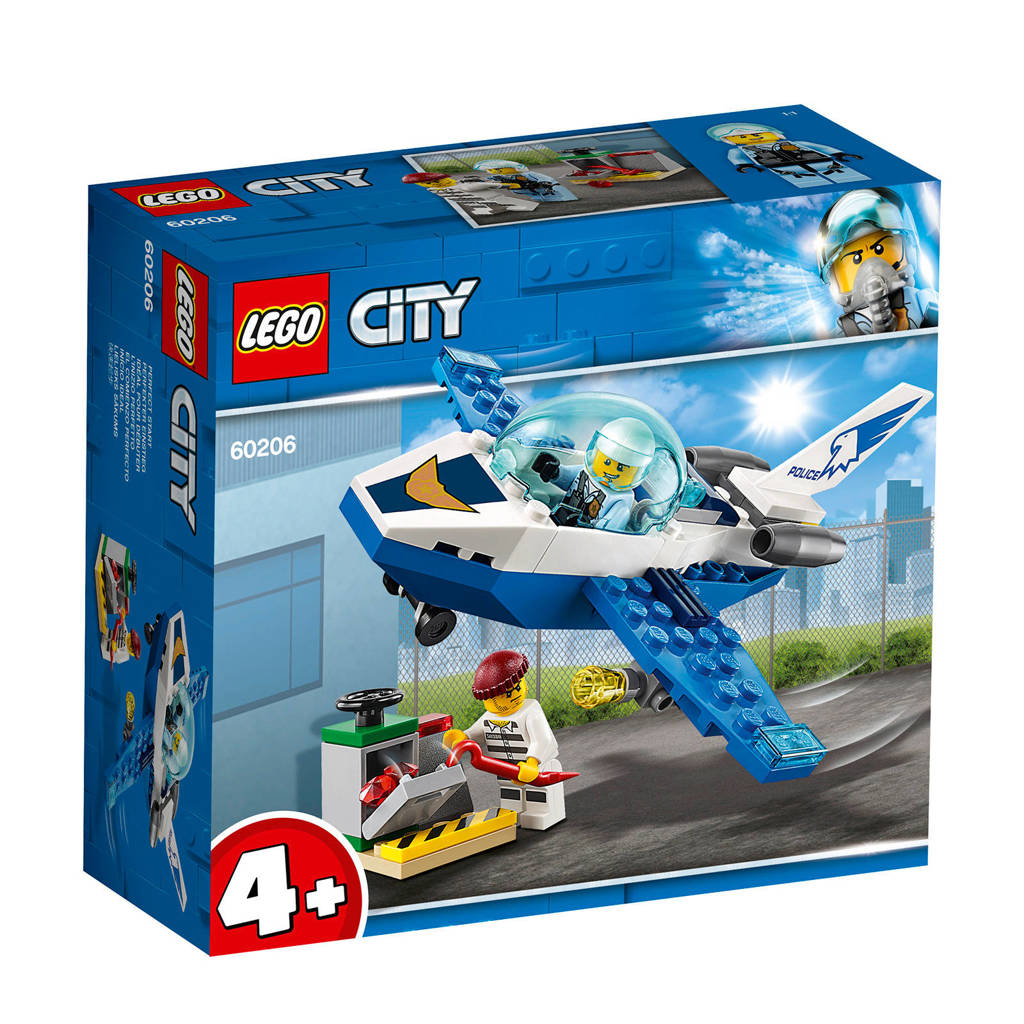 LEGO 4+ Luchtpolitie vliegtuigpatrouille 60206