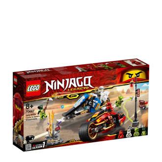 Ninjago Zwaardmotor van Kai en sneeuwscooter van Zane 70667