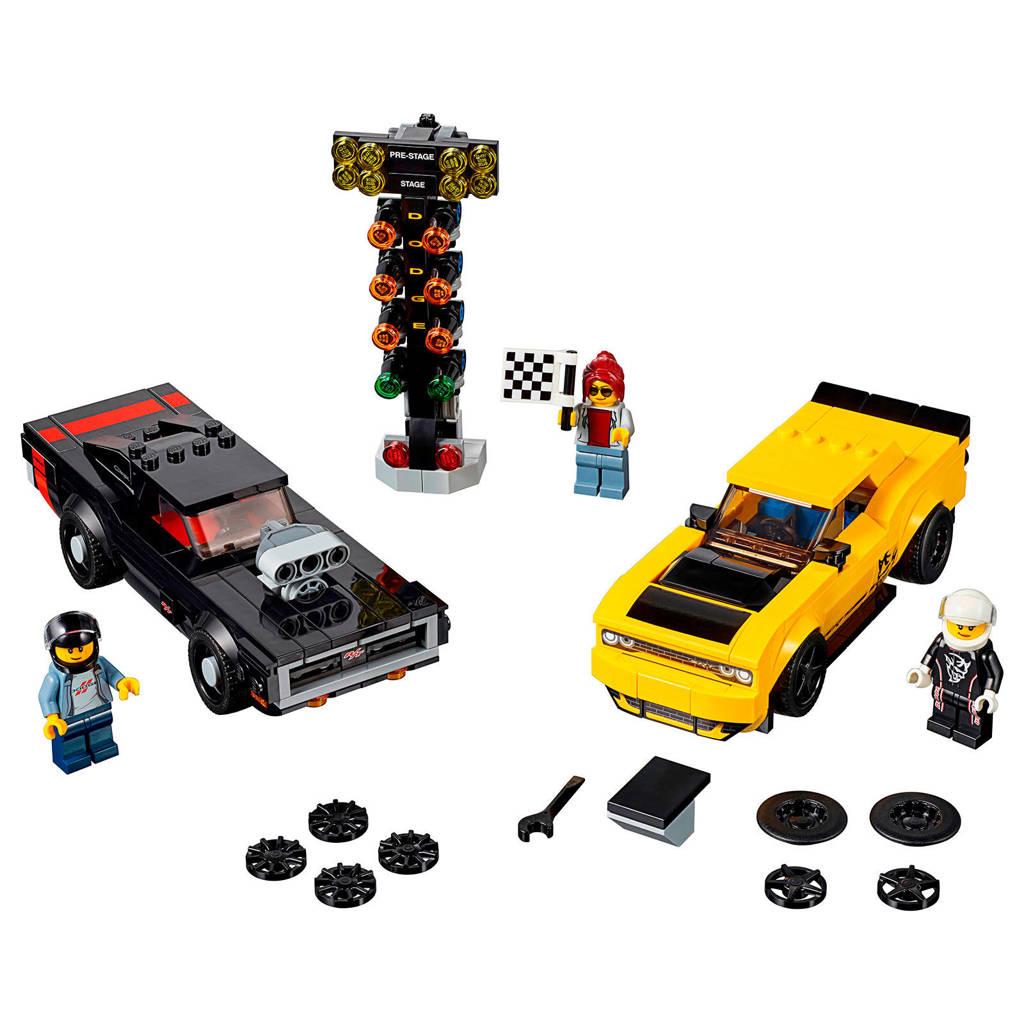 LEGO Speed Champions 2018 Dodge Challenger SRT Demon en 1970 Dodge Charger R/T 75893