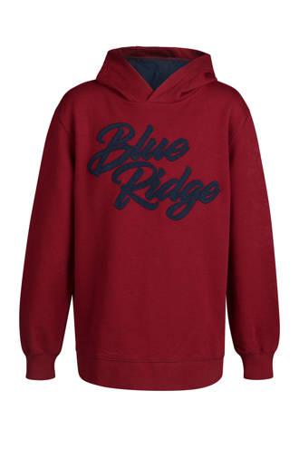 Blue Ridge hoodie met logo rood