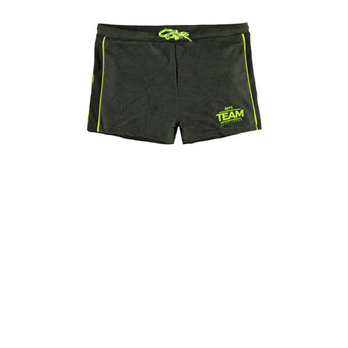 WE Fashion zwemshort met all over print groen