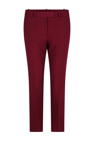slim fit pantalon donkerrood
