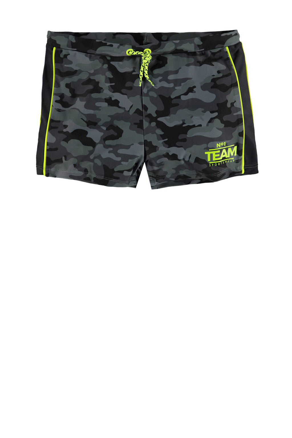 429ee562ed6ad8 WE Fashion zwemshort met camouflage print, Multicolor