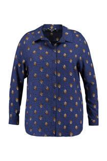 MS Mode blouse met panterprint blauw (dames)