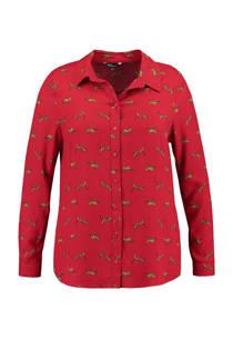 MS Mode blouse met panters rood (dames)
