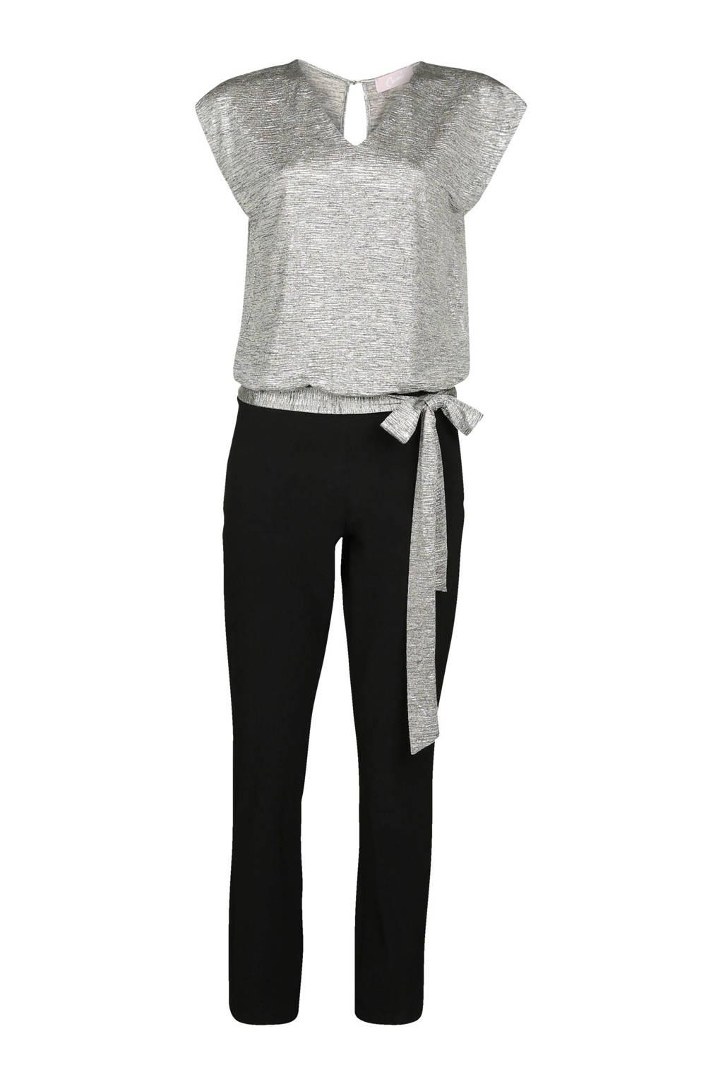Cassis jumpsuit zilver/zwart, Zwart/zilver