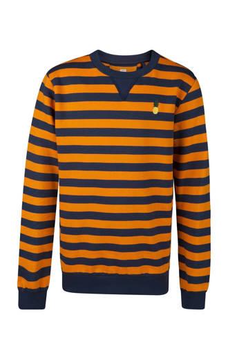 gestreepte sweater oranje