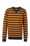 Oranje/ donkerblauw