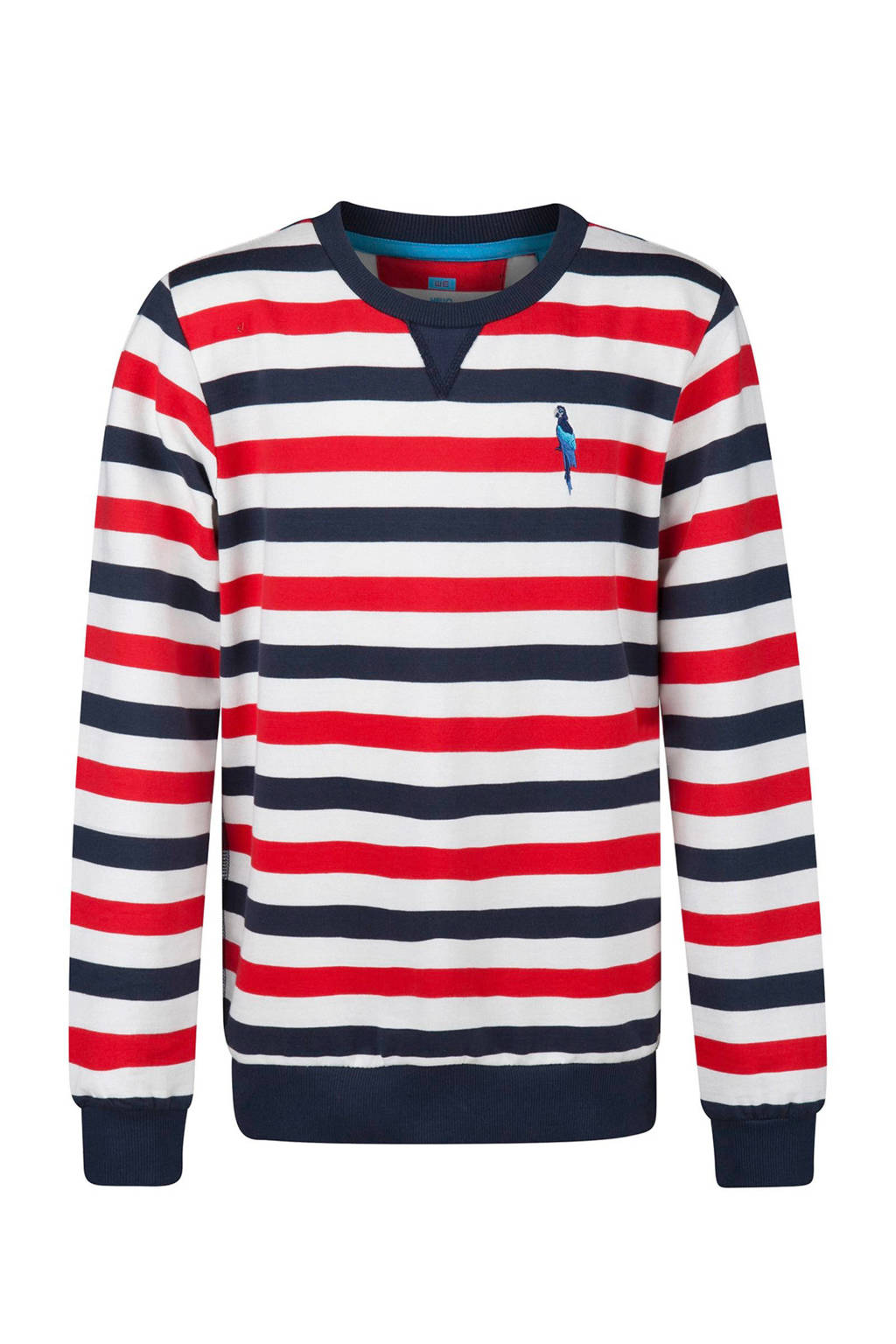 WE Fashion gestreepte sweater rood, Rood/blauw/wit