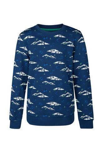 sweater met bergen blauw