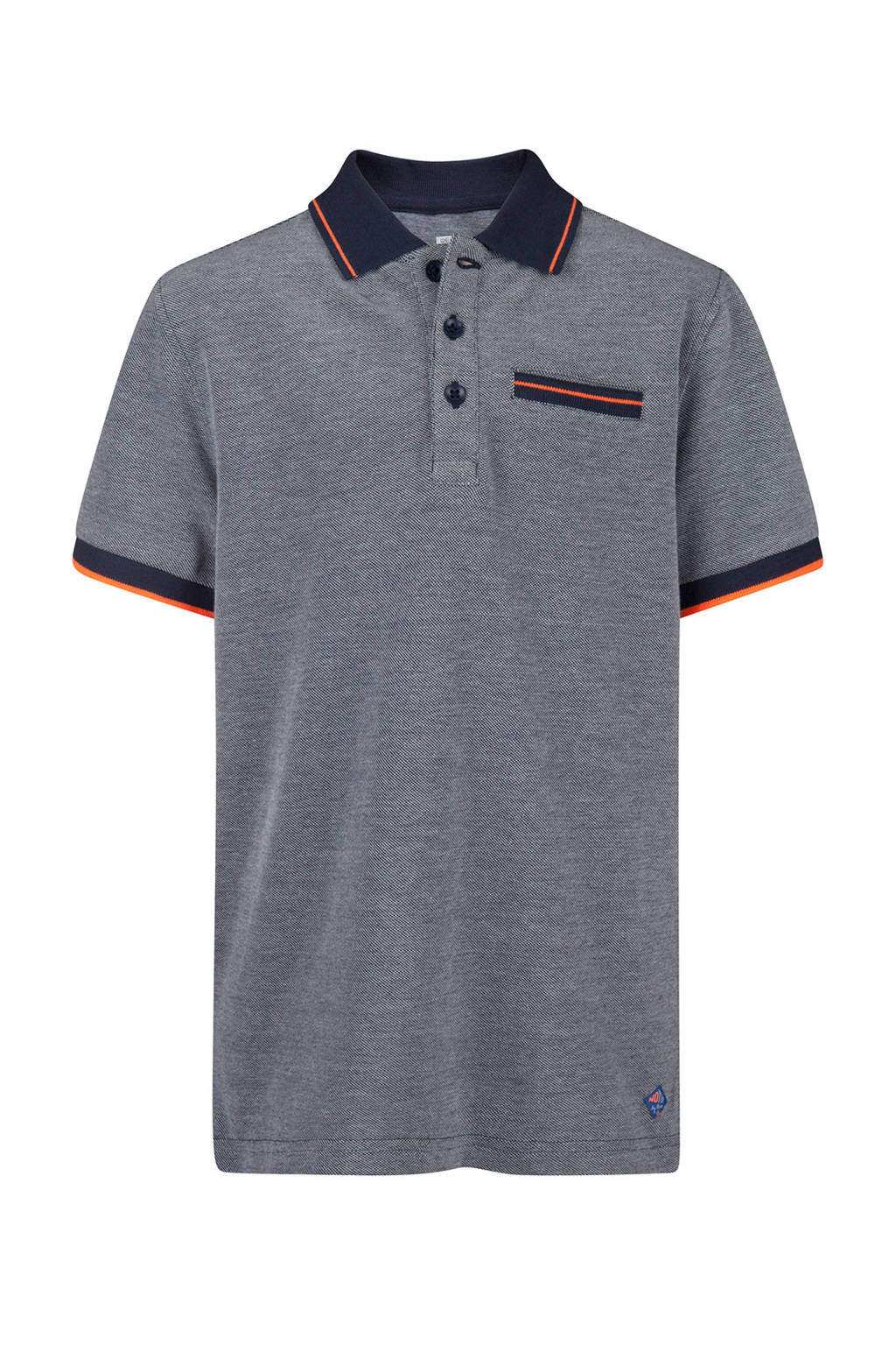 WE Fashion gemeléerde polo blauw, Blauw