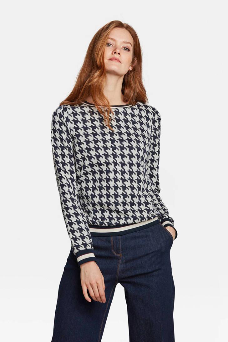 sweater met poule Fashion WE print pied de 7qE5TPHw