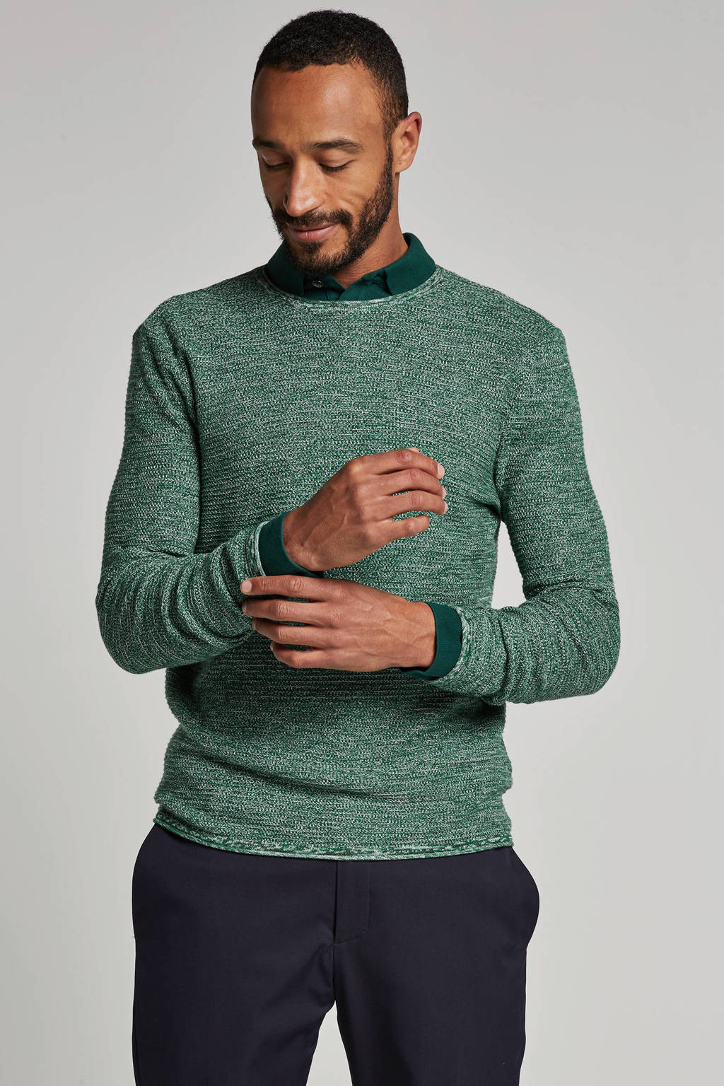 Only & Sons trui, Groen/wit