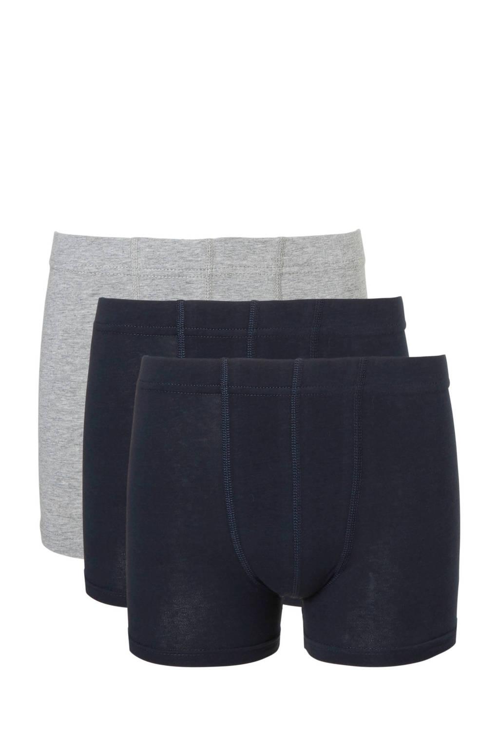 NAME IT Junior  boxershort - set van 3, Zwart/blauw/grijs