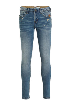 regular fit jeans NKMROSS met slijtage blue denim