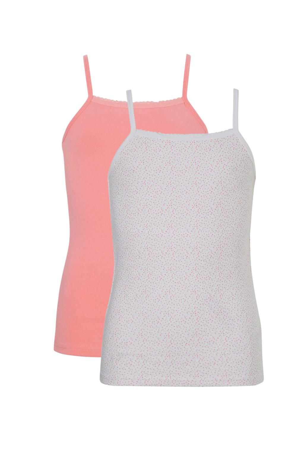 name it hemd - set van 2, Roze/wit