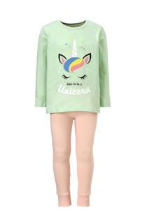 name it MINI pyjama met eenhoorn mint (meisjes)