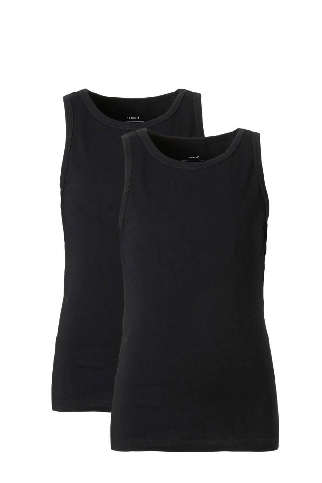 NAME IT MINI hemd zwart - set van 2, Zwart