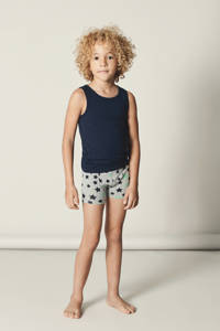 NAME IT MINI hemd - set van 2, Donkerblauw/grijs