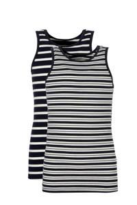 NAME IT hemd ( set van 2 ) met strepen, Donkerblauw/ off White