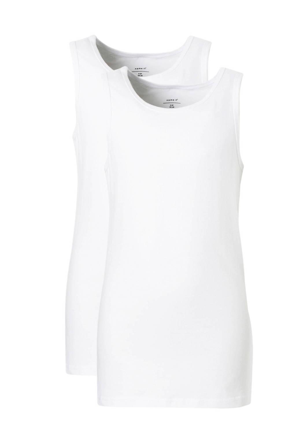 NAME IT hemd - set van 2  wit, Wit