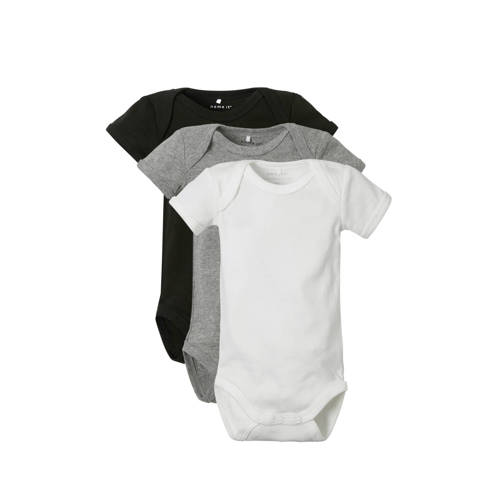 name it BABY rompers uni - set van 3 kopen