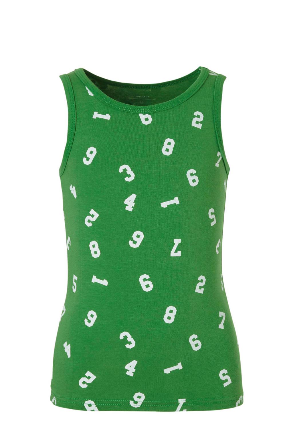 NAME IT MINI hemd ( set van 2 ), Groen/ grijs melange