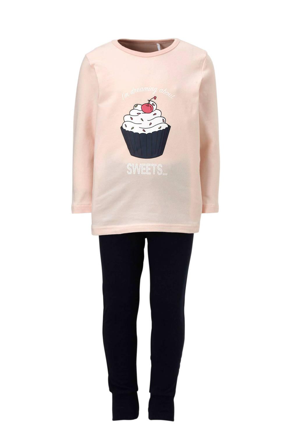 name it MINI pyjama met cupcake roze, Lichtroze/blauw