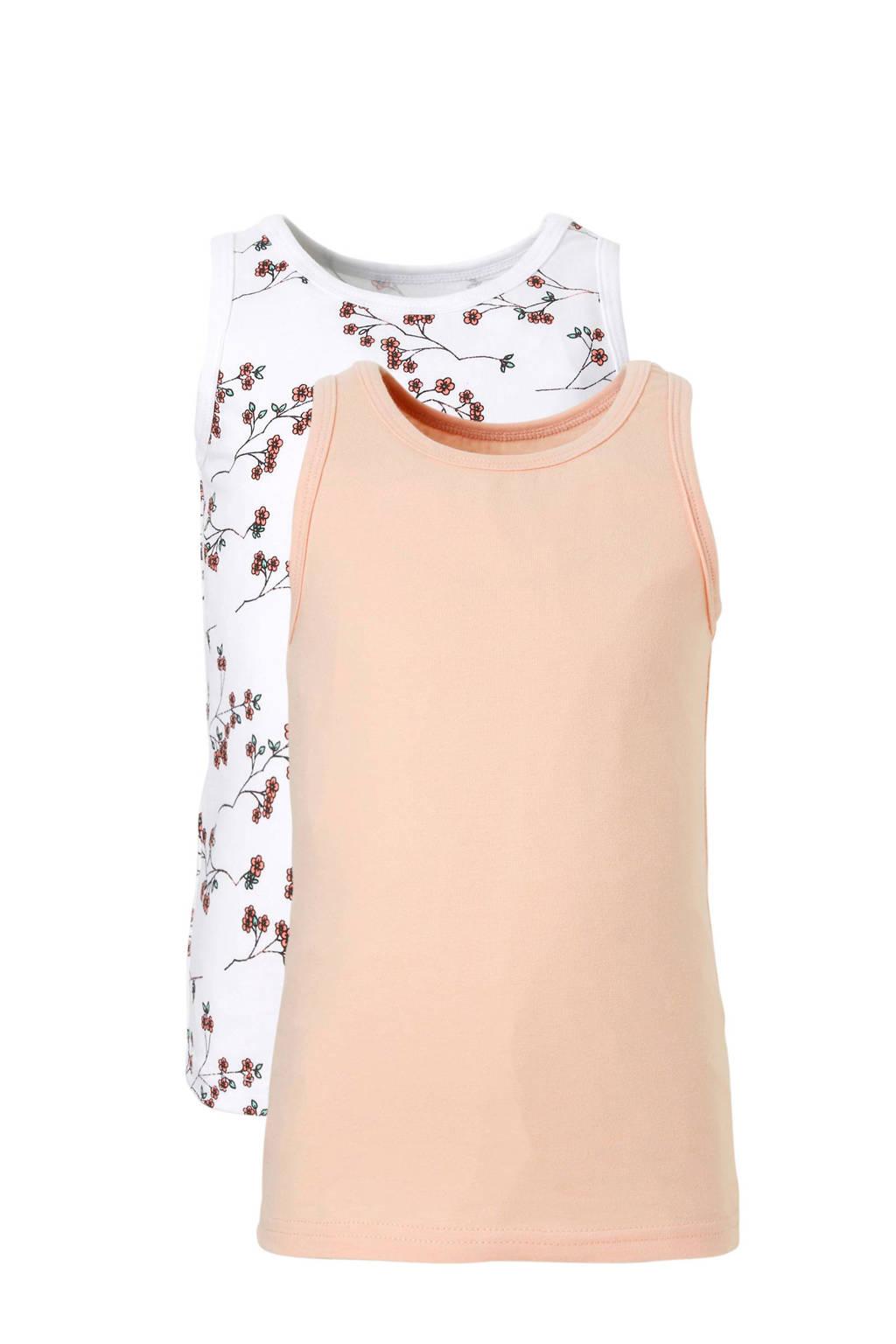 name it MINI hemd (set van 2), Licht/ roze/ wit
