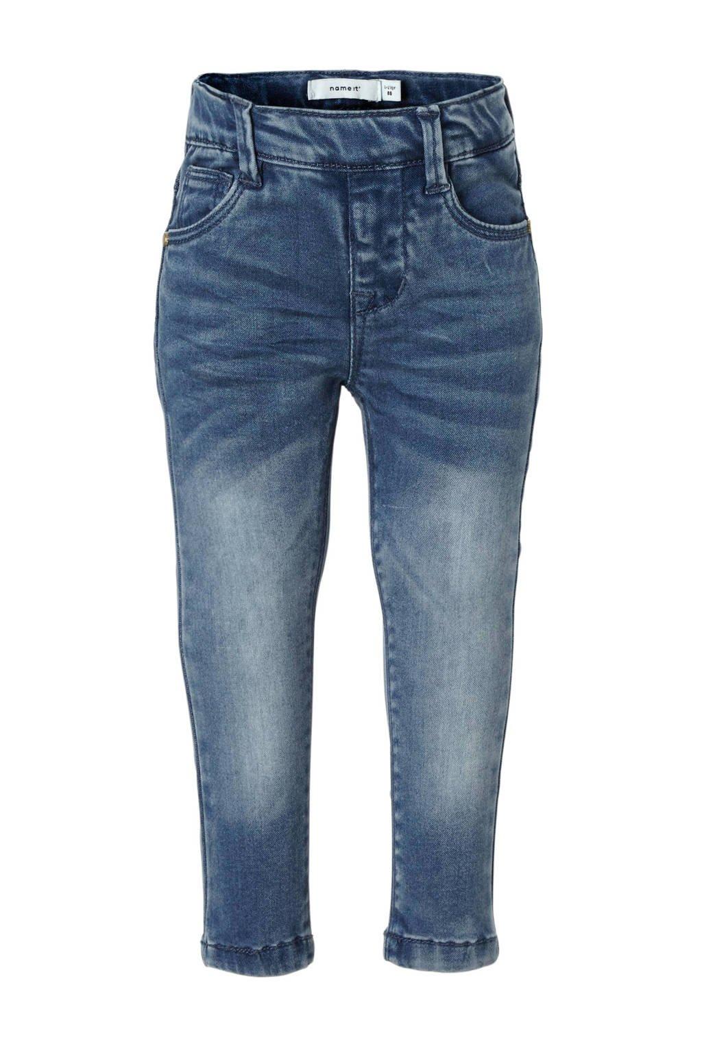 name it MINI skinny fit jeans Polly, Medium blue
