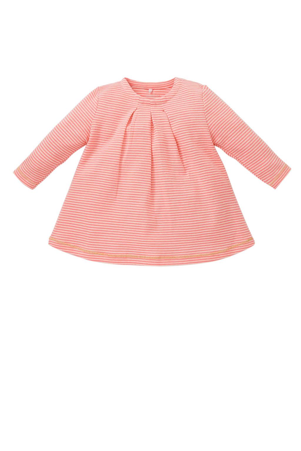 NAME IT BABY gestreepte tuniek roze, Roze