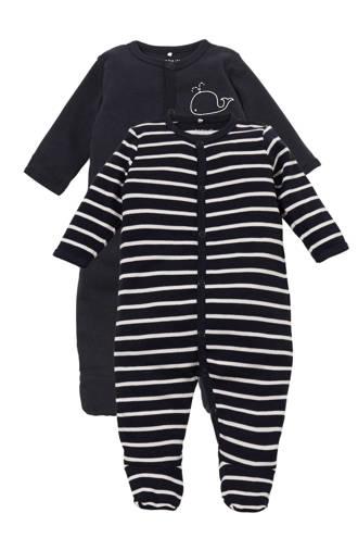 BABY   newborn baby pyjama - set van 2