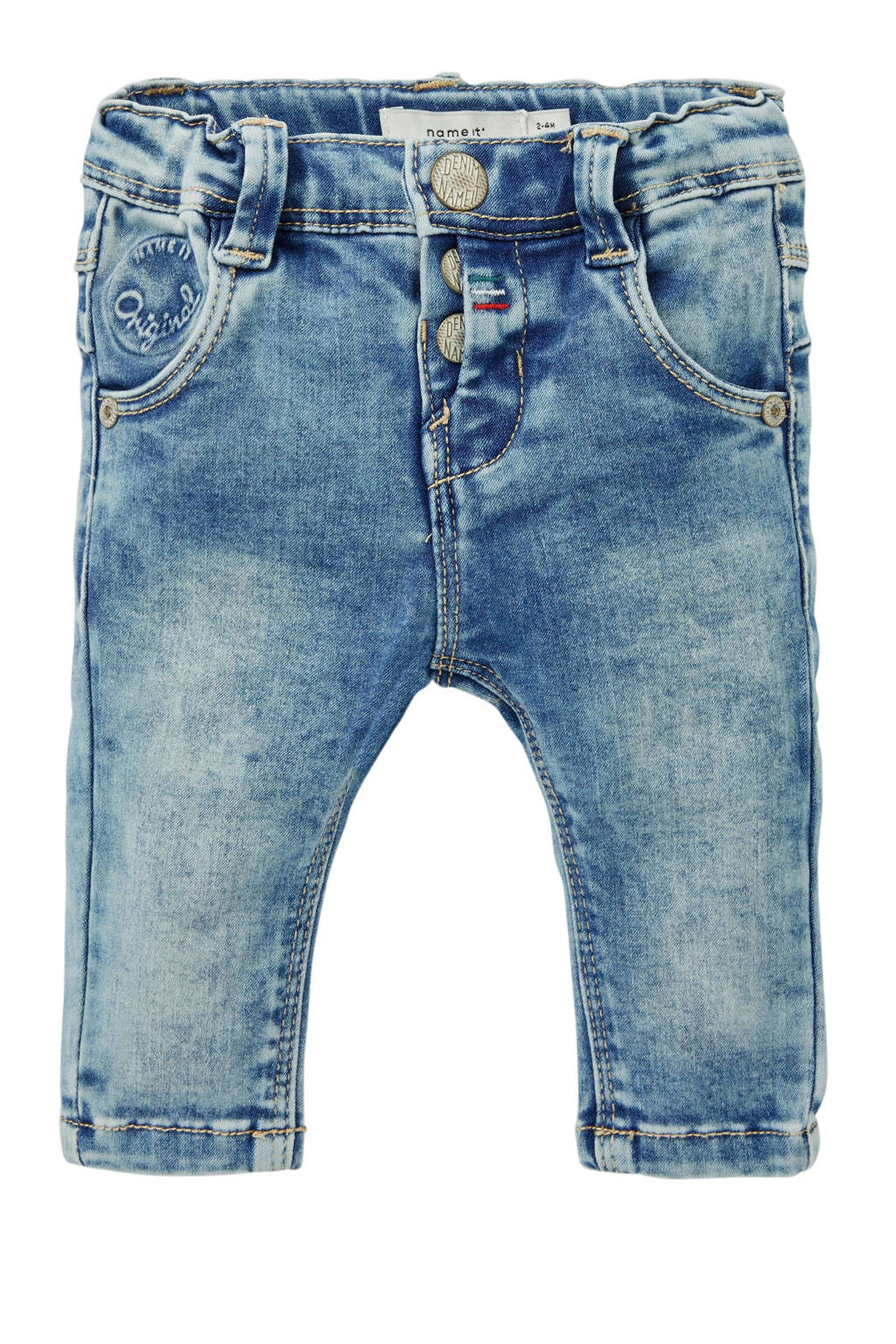 name it BABY slim fit jeans, Lichtblauw