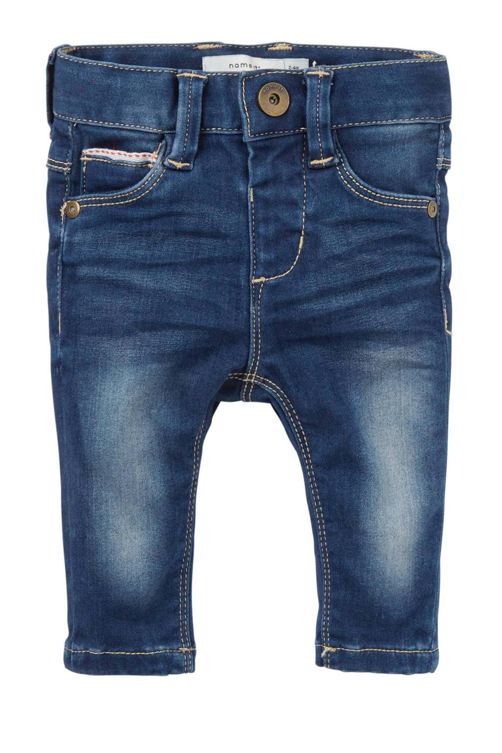 name it BABY baby newborn slim fit jeans Sofus, Dark stonewashed