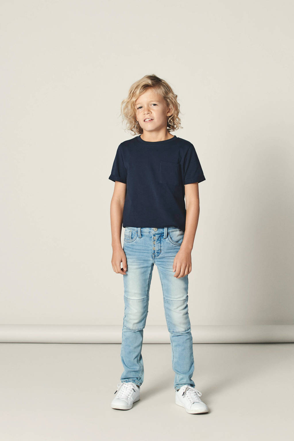 NAME IT x-slim fit jog denim Theo, Lichtblauw