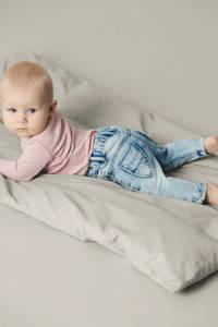 NAME IT BABY baby slim fit jeans met zijstreep light denim, Light denim