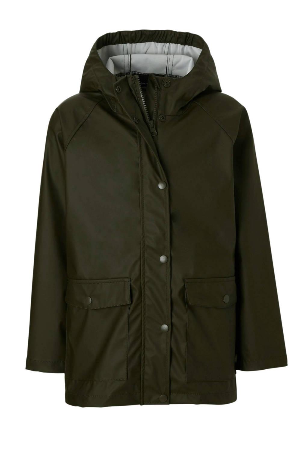 name it waterafstotende jas, Donkergroen