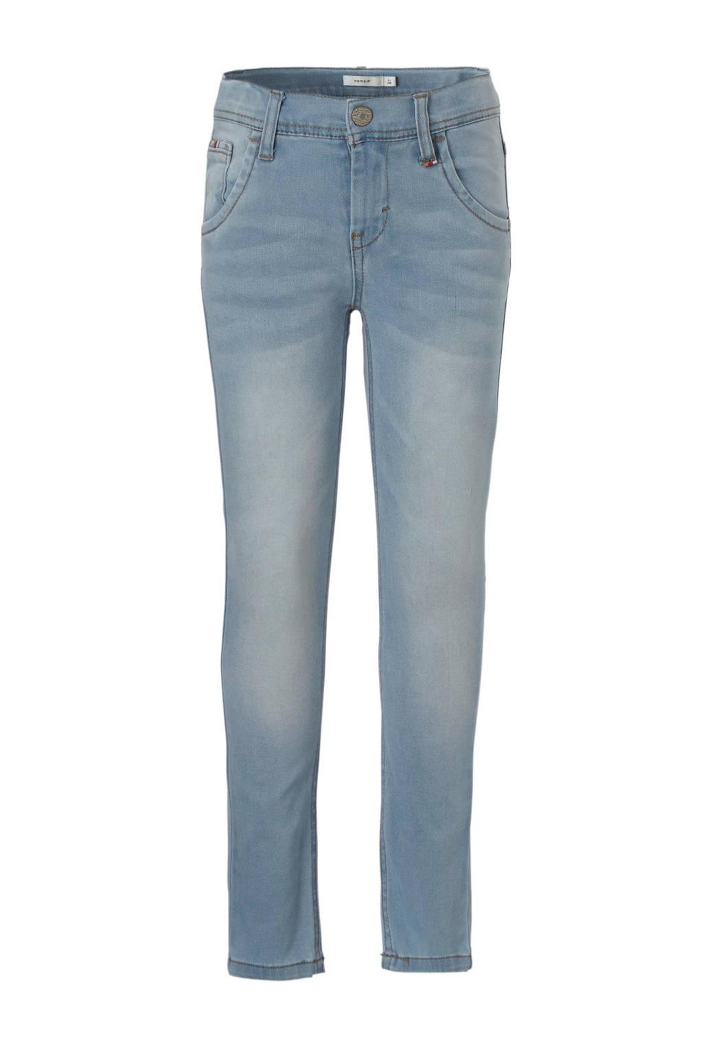 name it x-slim fit jeans Theo, Light blue denim