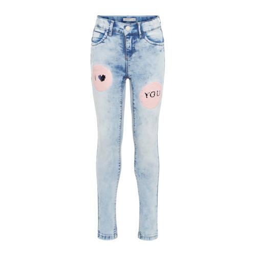 name it skinny jeans Polly met pailletten