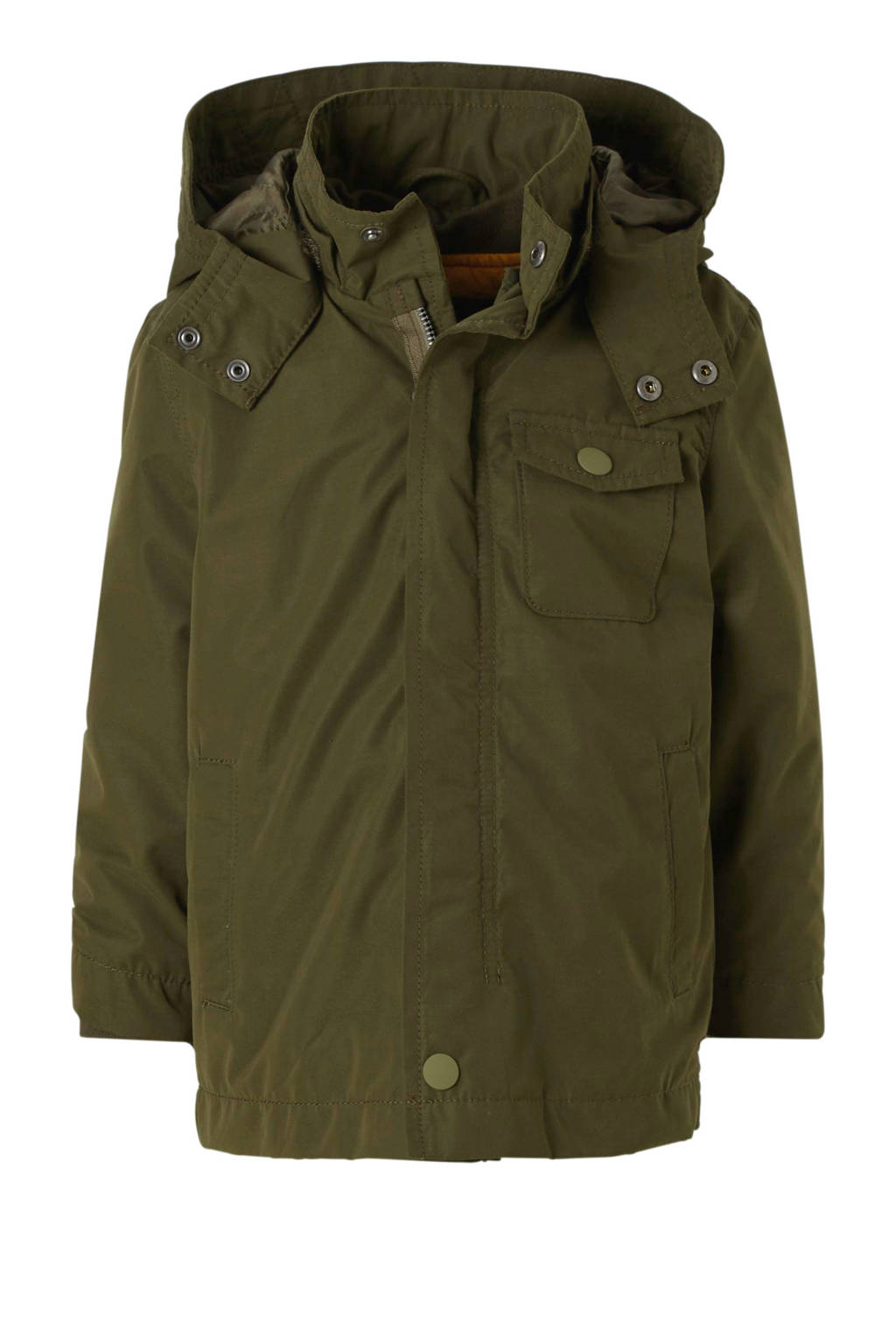 name it MINI parka jas donkergroen, Donkergroen